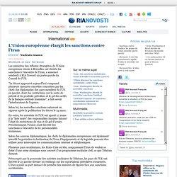 L'Union européenne élargit les sanctions contre l'Iran