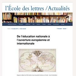 De l'éducation nationale à l'ouverture européenne et internationale