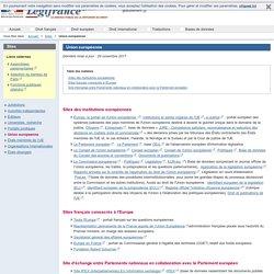 Portail de sites sur l'Union europeenne