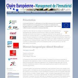 Univ Paris Sud 11: Chaire Européenne de Management de l'Immatériel
