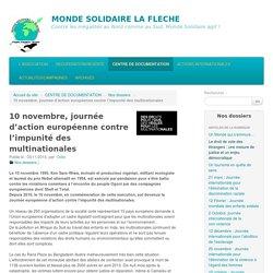 10 novembre, journée d'action européenne contre l'impunité des multinationales - MONDE SOLIDAIRE LA FLECHE