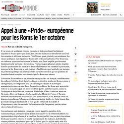 Appel à une «Pride» européenne pour les Roms le 1eroctobre