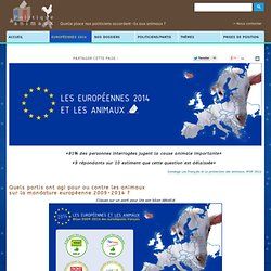 Les européennes 2014 et les animaux