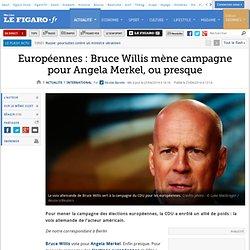 Européennes : Bruce Willis mène campagne pour Angela Merkel, ou presque
