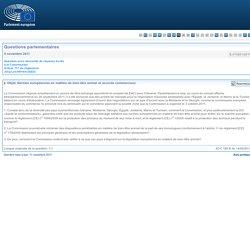 PARLEMENT EUROPEEN - Réponse à question E-010201/2011 Normes européennes en matière de bien-être animal et accords commerciaux