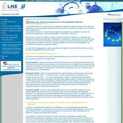 Révisions des directives européennes sur les dispositifs médicaux