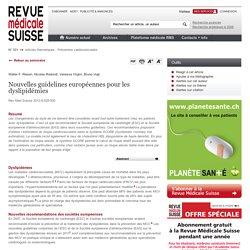 Nouvelles guidelines européennes pour les dyslipidémies - Revue médicale suisse