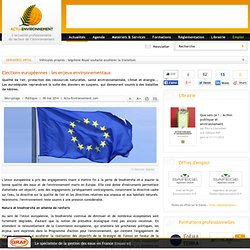Elections européennes : les enjeux environnementaux