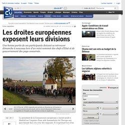 Les droites européennes exposent leurs divisions