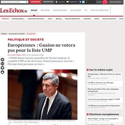 Européennes : Guaino ne votera pas pour la liste UMP