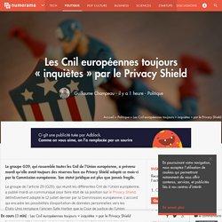 Les Cnil européennes toujours « inquiètes » par le Privacy Shield - Politique