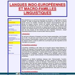 Langues indo-européennes et macro-familles linguistiques