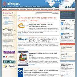 L'actualité des sections européennes ou de langues orientales