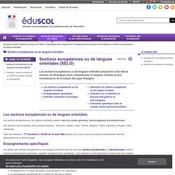 Sections européennes ou de langues orientales - Présentation - ÉduSCOL
