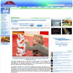 Des régles européennes pour les robots et les véhicules autonomes