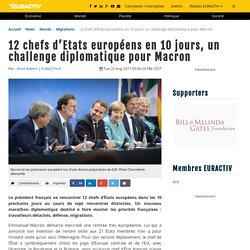 12 chefs d'Etats européens en 10 jours, un challenge diplomatique pour Macron – EURACTIV.fr