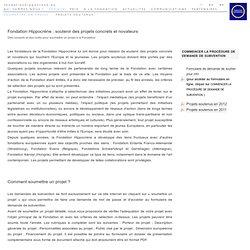Projets européens soutenus par la Fondation Hippocrène - soumettre un projet