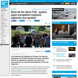 EUROPE - Bras de fer dans l'UE : quatre pays européens toujours opposés aux quotas