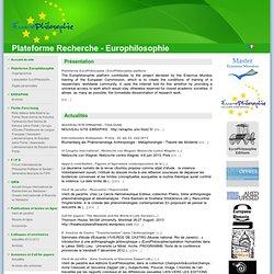 Plateforme Recherche