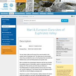 Mari & Europos-Dura sites of Euphrates Valley