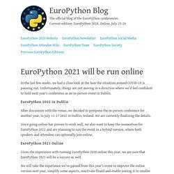 Blog — EuroPython 2021 will be run online