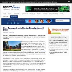 Sky, Eurosport nets Bundesliga rights until 2021