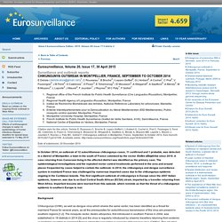 EUROSURVEILLANCE 30/04/15 Chikungunya outbreak in Montpellier, France, September to October 2014.