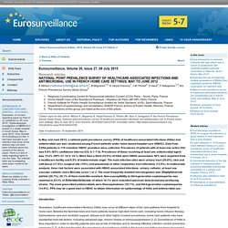 EUROSURVEILLANCE 09/07/15 National point prevalence survey of healthcare-associated infections and antimicrobial use in French home care settings, May to June 2012.