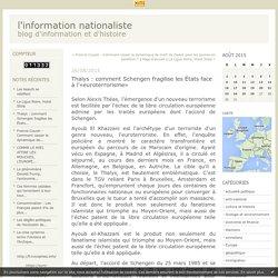 Thalys : comment Schengen fragilise les États face à l'«euroterrorisme»