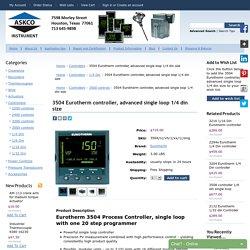 Eurotherm Controller 3504 & Single Loop Controller - ASKCO