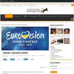 Eurovision – Alma chante «Requiem».