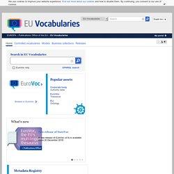 EuroVoc (multilangue UE)