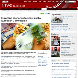 Eurozone economic forecast cut by European Commission