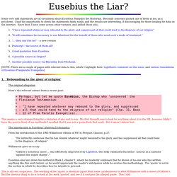 Eusebius the Liar?