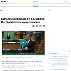 Euthanasia bill passes 69-51, sending the final decision to a referendum