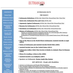 Euthanasia suicide mercy-killing right-to-die physician assisted suicide living wills research