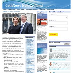 """Five reasons to vote """"no"""" in euthanasia referendum - CathNewsNZ CathNews NZ Pacific"""