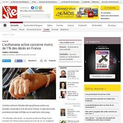 L'euthanasie active concerne moins de 1% des décès en France