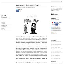 Euthanasie : j'ai changé d'avis