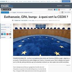 Euthanasie, GPA, burqa : à quoi sert la CEDH ?
