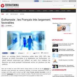 Euthanasie : les Français très largement favorables