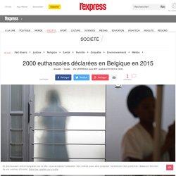 2000 euthanasies déclarées en Belgique en 2015