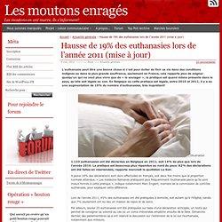 Hausse de 19% des euthanasies lors de l'année 2011 (mise à jour)