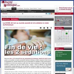 Le CCNE dit non au suicide assisté et à la sédation à visée euthanasique