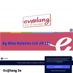 Ev@lang 3e by psalernoprof1 on Genially
