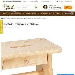 Dřevěná stolička s šuplíkem - drevoaprouti.cz