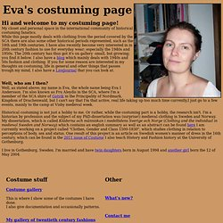 Eva's costume page
