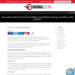 House Fire Disasters and Evacuation Plans