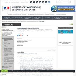 Evacuation - Ministère de l'Environnement, de l'Energie et de la Mer
