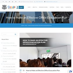 How to Make an Effective Office Evacuation Plan - Centre for Security Training & Management Inc.